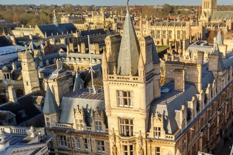 The rooftops of Cambridge