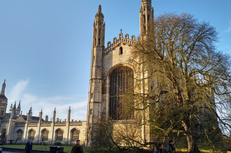 The magnificent Kings College in the sunshine